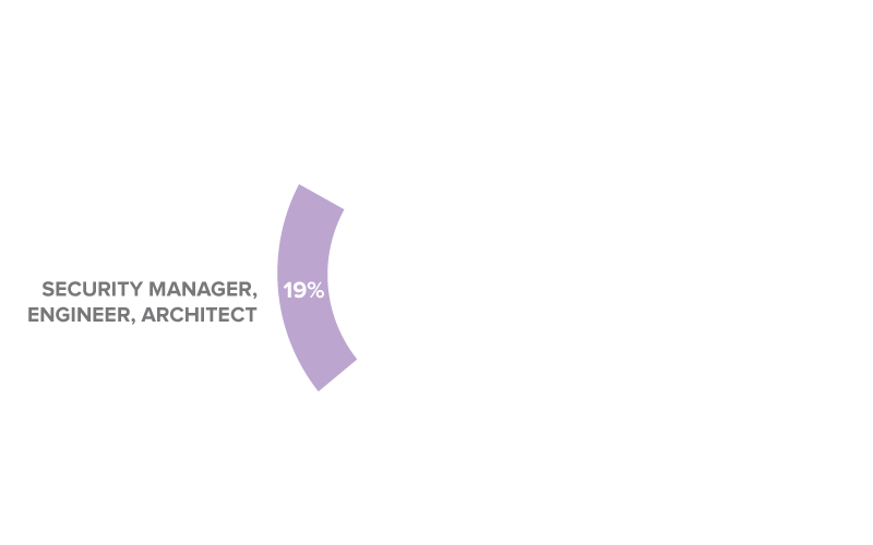 19% Security Manager, Engineer, Architect